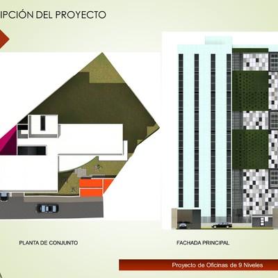 Proyecto de oficinas 9 Niveles