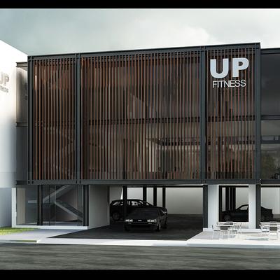 Diseño arquitectónico gimnasio UpFitness