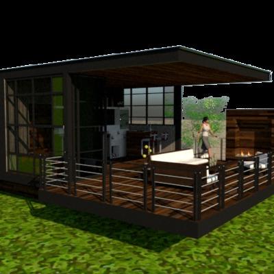 Cabaña minimalista