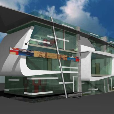 500 m³ de espacios habitacionales para artistas.