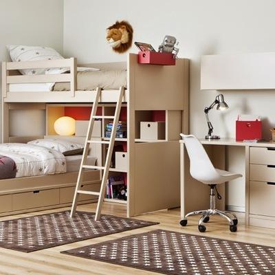 Habitacion doble para estudiar y dormir