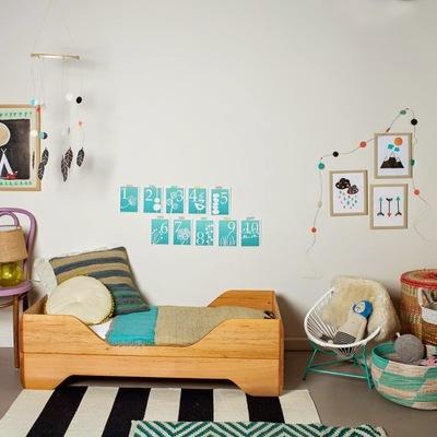 habitacion vintage con cestas