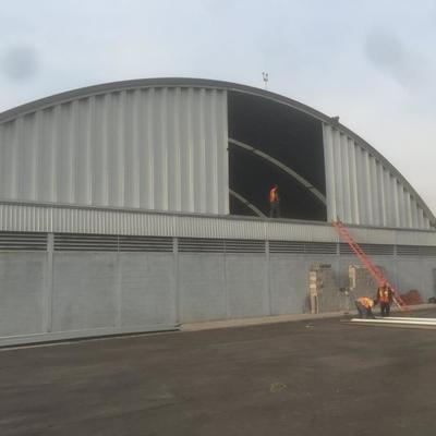 Construcción Hangar en el AICM