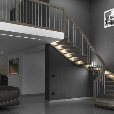 iluminación escalera