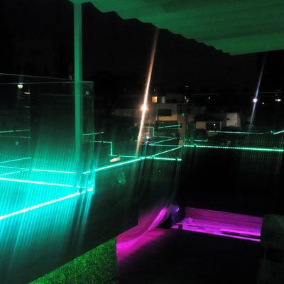 ILUMINACION LED Y AUDIO EN ROOF GARDEN