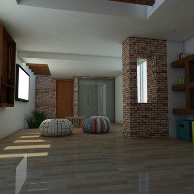 Desarrollo cuarto de juegos en casa habitación
