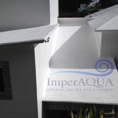 Impermeabilización de techo con membrana asfáltica de Geotextil