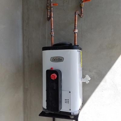 Calentador solar con boiler de respaldo