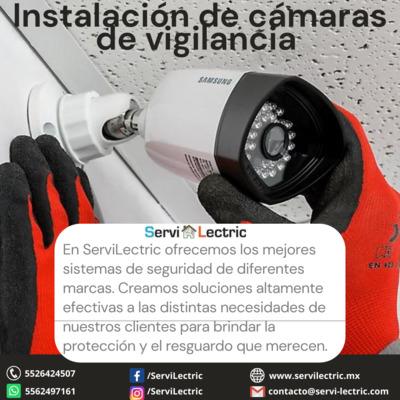 Instalación de cámaras de vigilancia.