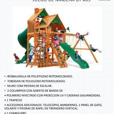 Catalogo de Juegos Infantiles Madera