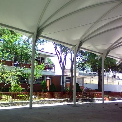 Membrana arquitectónica terminada