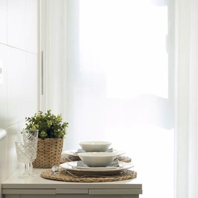 Mesa plegable en la cocina