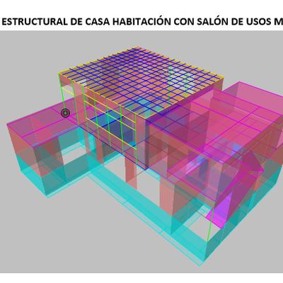 Casa Habitación con salón de usos múltiples en Planta Alta