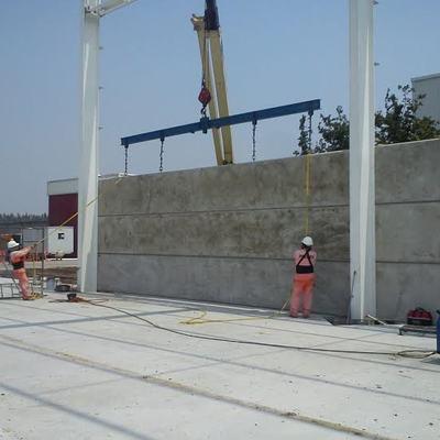 Muros prefabricados para naves industriales