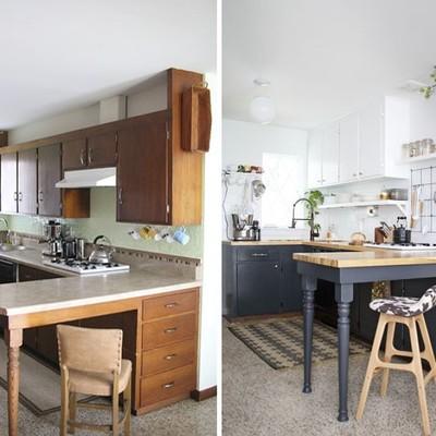 El antes y el después de 6 cocinas sin obras