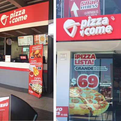 Cambio de Imagen Pizza y Come