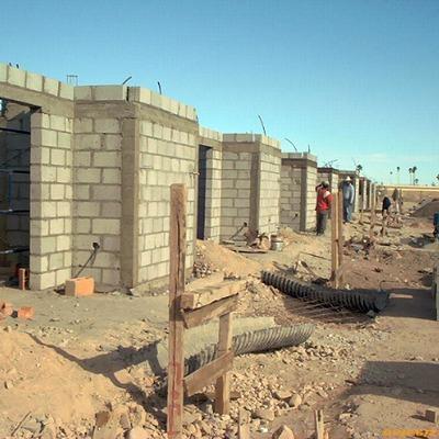 Construccion de vivienda en serie.