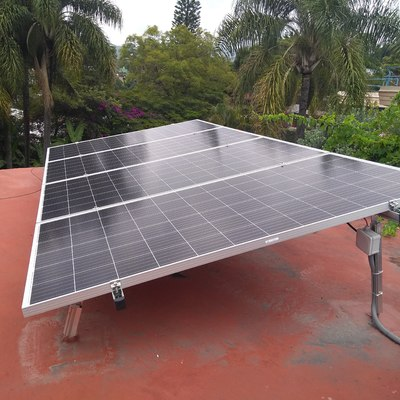 Instalación de 4 Paneles Solares en Rancho Cortes, Cuernavaca.