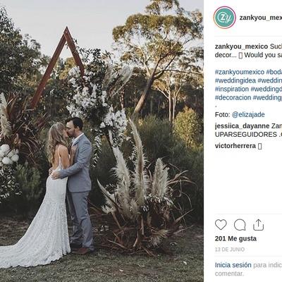 5 cuentas de Instagram que te ayudarán a decorar tu boda.