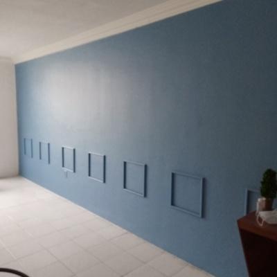 Pintura de muro sala y comedor