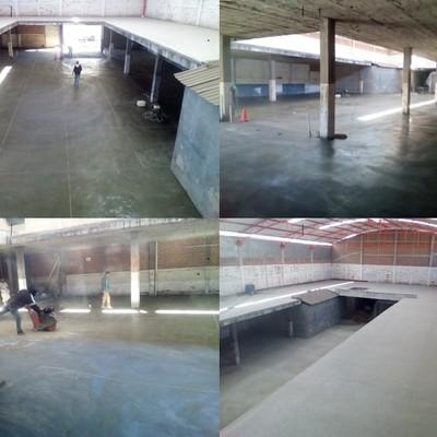 Reparación de piso de Bodega para Empresa Curtidora y renivelacion de mezanine para oficinas