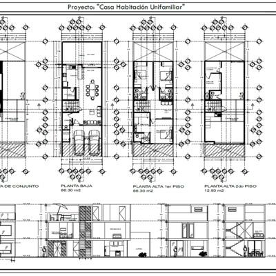 CONSRUCCION CASA HABITACION UNIFAMILIAR DE 2 PLANTAS + ROOFGARDEN