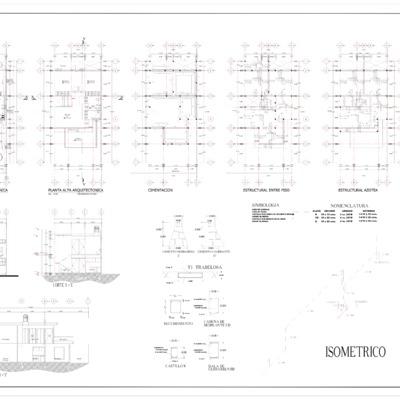 Proyecto arquitectonico para Casa Habitacion Paso de Ovejas, Ver.