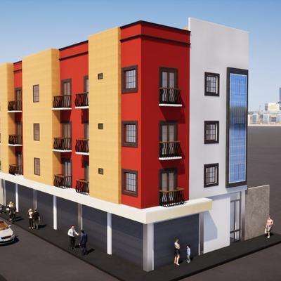 Edificio (Departamentos, Recamaras, Pegar azulejo y Cocinas)