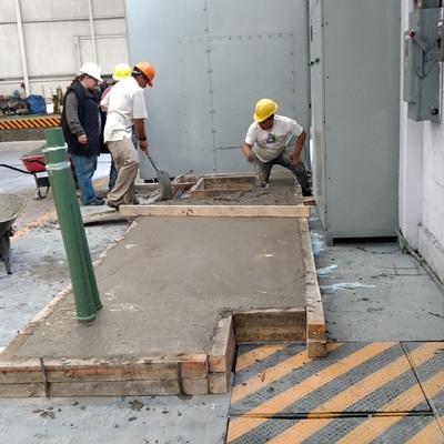 Instalación de Plataformas en la Empresa EEEISA, en Ozumba Estado de México