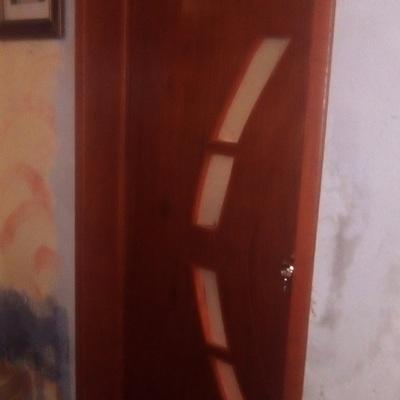 puerta para baño con vidrio