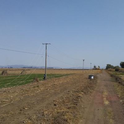 Recalibramiento de línea de media tensión en circuito entre la población de Naranja de Tapia y Tarejero, Mich.