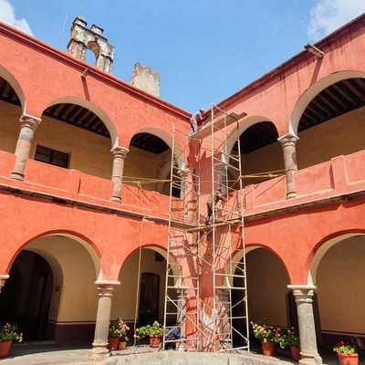 mantenimiento a edificio del siglo xvi