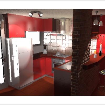 Remodelación de Cocina vista 2.