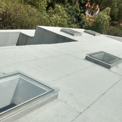 Remodelación y montaje de domo de vidrio a 10 mts de altura