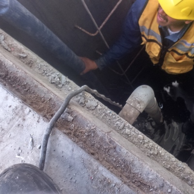 Instalación de Moto bomba en Cárcamo de Bombeo