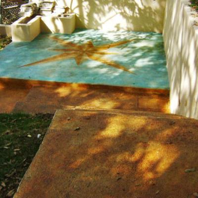 Oxidado sobre concreto