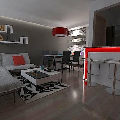 Diseño De Interiores De Un Departamento
