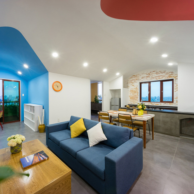 Un departamento para vivir a todo color