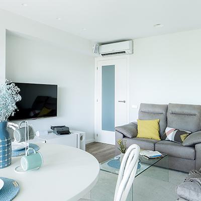 Sala con aparato de aire acondicionado