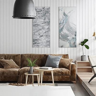 Sala decorada con plantas