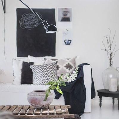 Ideas y fotos de accesorios y decoraci n de estilo vintage - Salon en blanco y negro ...
