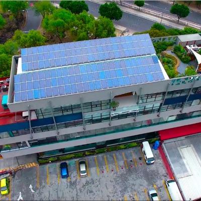 Instalación de paneles solares en CONABIO CDMX