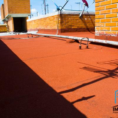 Sistema impermeable prefabricado color rojo de rápida aplicación