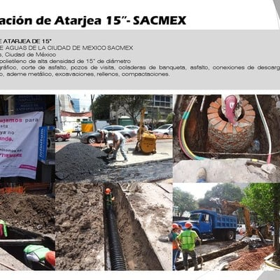 "Rehabilitación de Atarjea 15""- SACMEX"