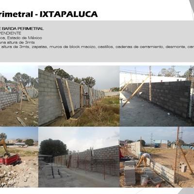 Barda perimetral - IXTAPALUCA