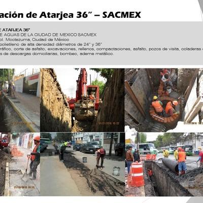 "Rehabilitación de Atarjea 36"" – SACMEX"