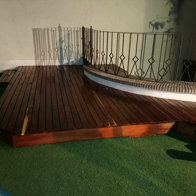 Deck en madera de tzalam para roof garden