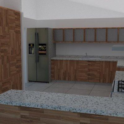 Diseño de interior de cocina integral