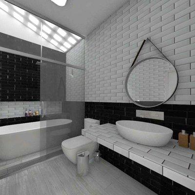 Propuesta de remodelación de baño 8m2