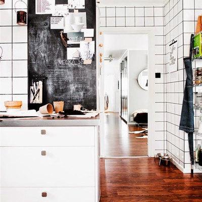 columna de pizarrón en cocina